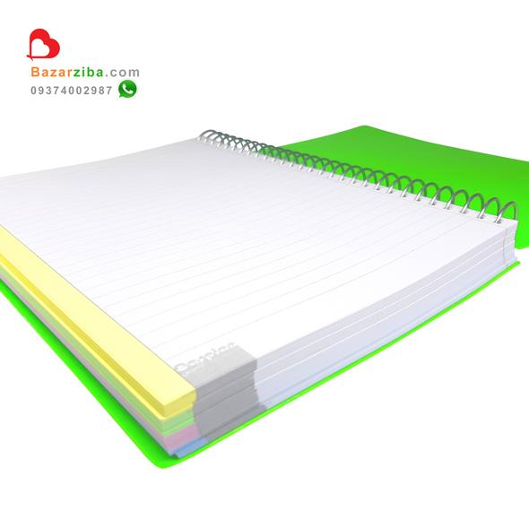 دفتر سیمی بزرگ ساده خط دار جلد طلقی رنگی با حاشیه 4 رنگ مشخصات خرید اینترنتی با قیمت مناسب