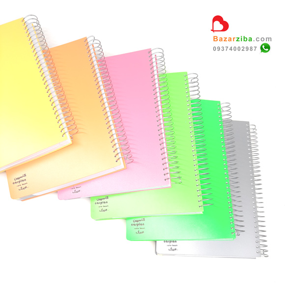قیمت دفتر سیمی 200 برگ جلد طلقی 4 رنگ ساده لبه کاغذ رنگی برای هدیه بزرگسال خرید اینترنتی از بازار زیبا