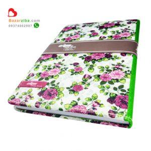 خرید دفتر خاطره نویسی گل گلی جلد پارچه ای زیبا برای نوشتن خاطرات و اتفاقات روزانه مناسب هدیه و کادو تولد